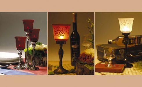 Kerzenleuchter / Glas